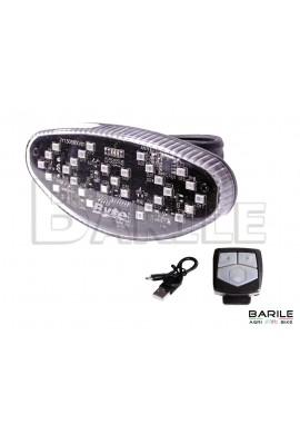 Fanale Posteriore / Freccia Senza Fili Wireless Ricaricabile + Telecomando Bici