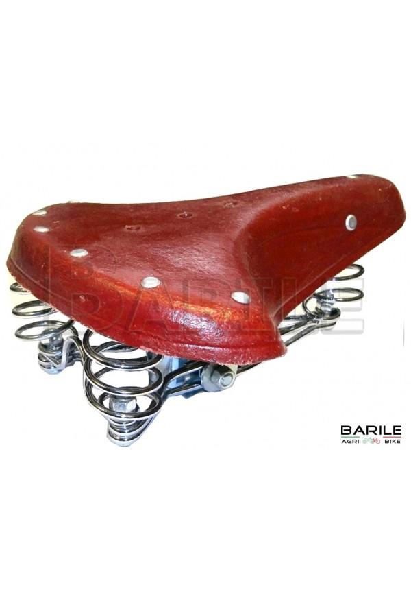 Sella 3 Molle Bici Epoca - R - Olanda - Bacchetta - Graziella Vintage MARRONE