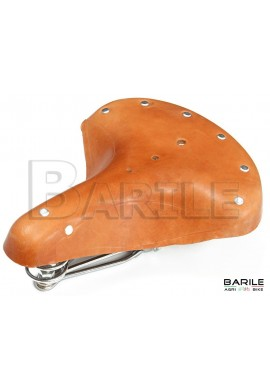Sella 3 Molle Bici Epoca - Olanda - Bacchetta - Vintage - Old - CUOIO Marrone