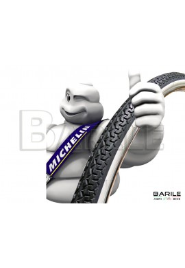 Copertone / Pneumatico Bici 26 x 1 - 3 / 8 ( 35 - 590 ) Bianco / Nero - MICHELIN