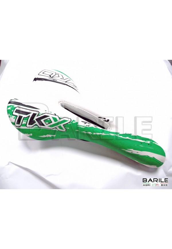 Sella Bici MTB - Mountain Bike - City Bike - EBike Bianco / Verde / Nero TKX PRO